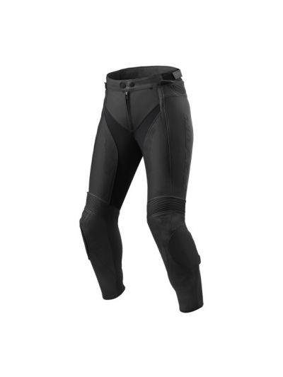 Ženske usnjene motoristične hlače REV'IT XENA 3 Ladies - črne
