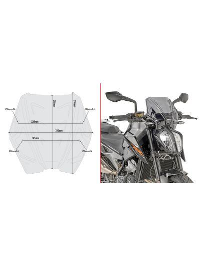 GIVI A7708 vizir za motor KTM Duke 790 (2018 - )