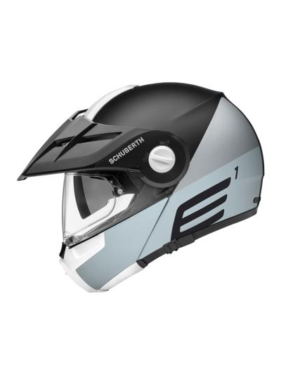 SCHUBERTH E1 motoristična preklopna čelada - cut siva