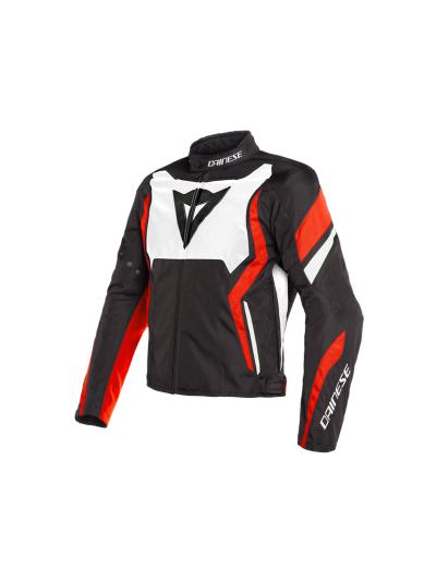 Dainese EDGE motoristična tekstilna jakna - črna/bela/fluo rdeča