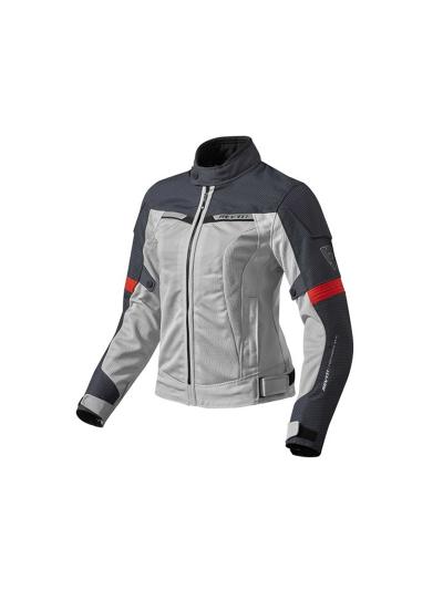 REV'IT AIRWAVE 2 ženska tekstilna motoristična jakna - siva/rdeča