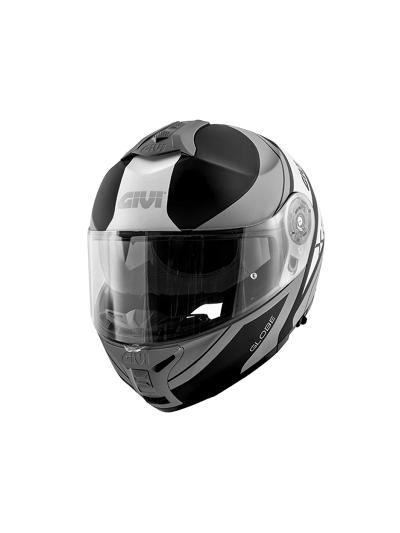 GIVI X.21 CHALLENGER GLOBE preklopna motoristična čelada - črna/titan