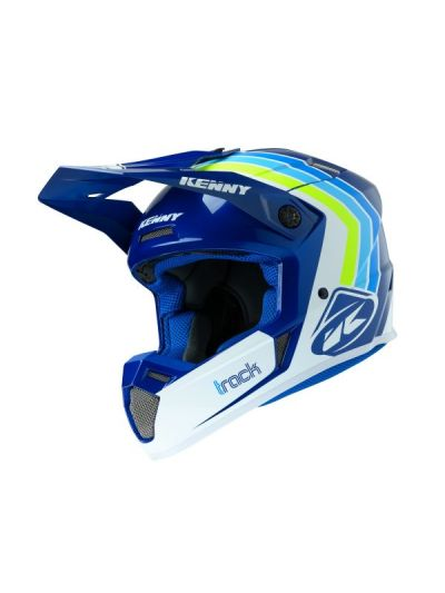 Kenny Racing TRACK Victory motoristična cross čelada - bela/modra