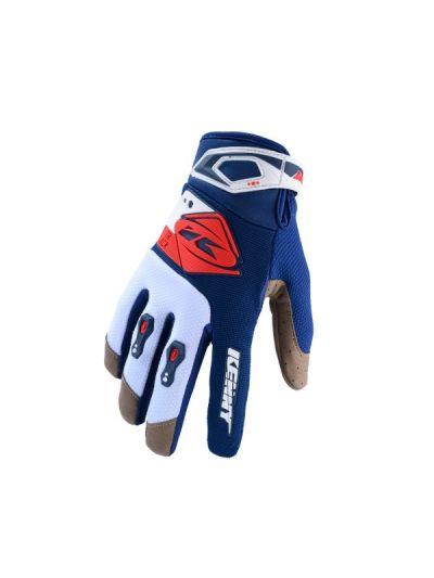 KENNY RACING TRACK motoristične cross rokavice - modre/rdeče