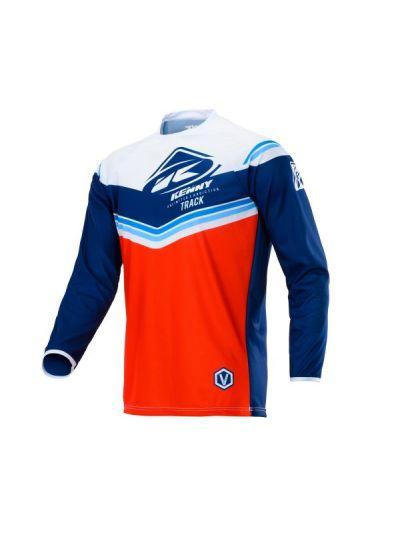 Kenny Racing TRACK motoristična cross majica - rdeča/modra