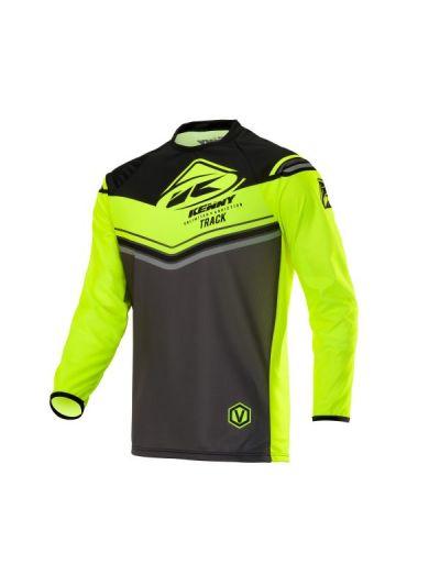 Kenny Racing TRACK motoristična cross majica - charcoal/neon rumena