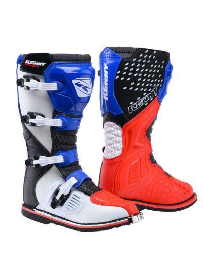 KENNY RACING TRACK Patriot motoristični kros škornji - rdeči/modri