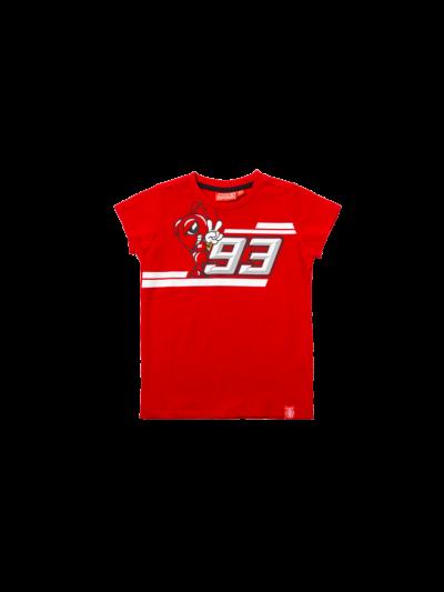 MM 93 otroška majica s kratkimi rokavi Marc Marquez - rdeča