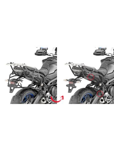 GIVI PLR2139 hitro snemljivi nosili stranskih kovčkov za Yamaha Tracer 900 (2018 - )