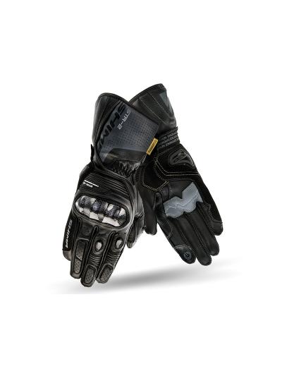 SHIMA STR-2 moške motoristične usnjene rokavice - črne