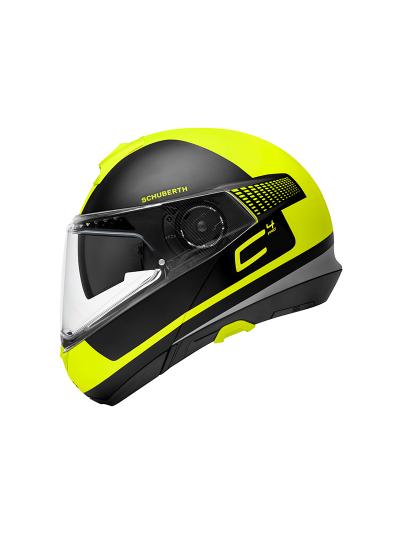 SCHUBERTH C4 Pro motoristična preklopna čelada - Legacy rumena