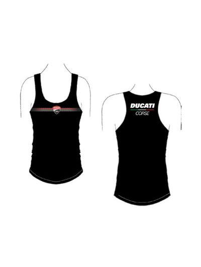 Ženska majica brez rokavov DUCATI Corse Lady črna (velikost L)