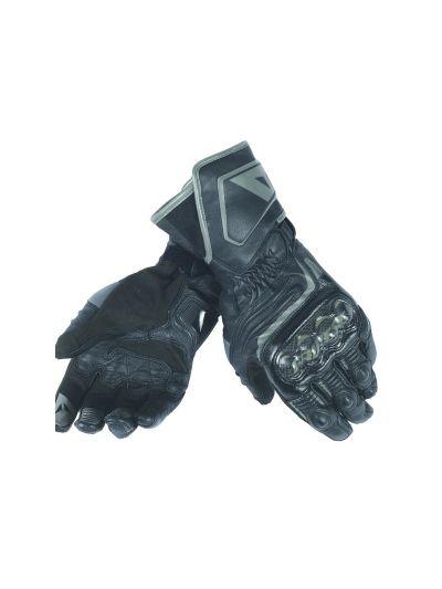 DAINESE CARBON D1 LADY LONG ženske usnjene motoristične rokavice - črne