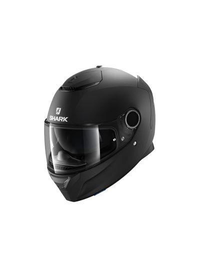 SHARK SPARTAN Integralna motoristična čelada - črna mat