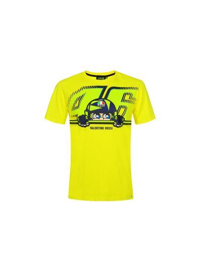 Majica s kratkimi rokavi Cupolino VR46 - rumena