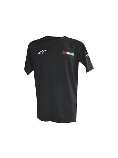Majica s kratkimi rokavi Akrapovič Alpinestars - črna