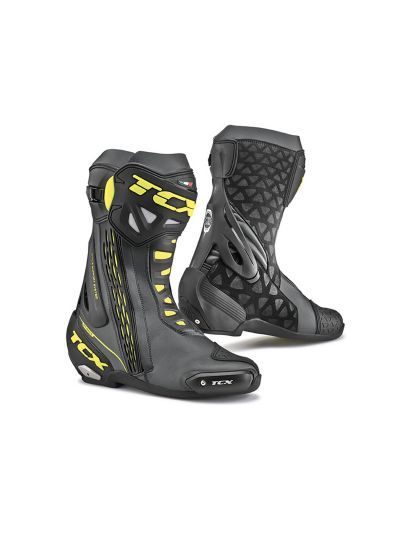 TCX RT-Race črni/rumeni fluo motoristični škornji
