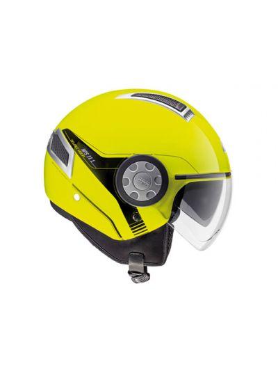 AIR JET 11.1 - GIVI Motoristična JET čelada - fluo rumena