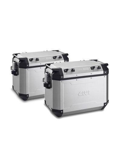 Komplet kovčkov GIVI TREKKER OUTBACK 48 | 48 l - aluminij