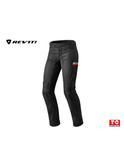 REV'IT TORNADO 2 LADY Tekstilne ženske motoristične hlače - skrajšane - črne