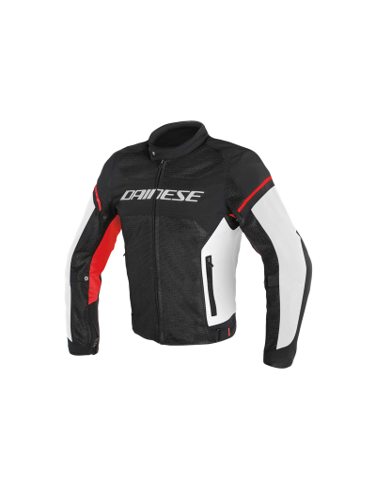 DAINESE AIR FRAME D1 tekstilna motoristična jakna - črna/bela/rdeča