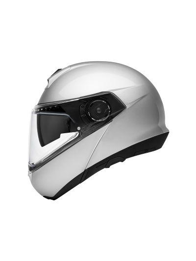 SCHUBERTH C4 PRO - Motoristična preklopna čelada - glos srebrna