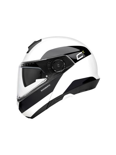 SCHUBERTH C4 PRO - Motoristična preklopna čelada - Fragment bela