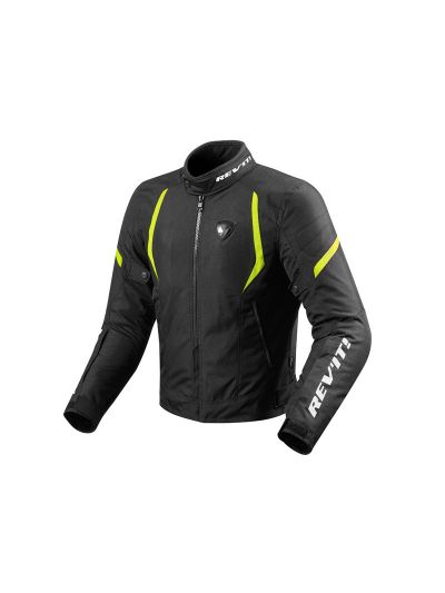 REV'IT JUPITER 2 črna-fluo tekstilna motoristična jakna