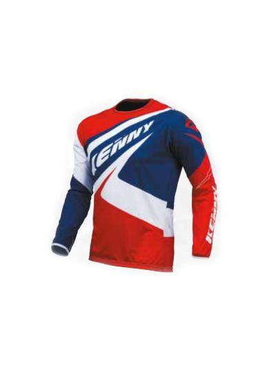 Kenny Racing TRAIL UP motoristična trail majica - modra / bela / rdeča