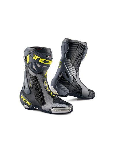 TCX RT-RACE PRO AIR Motoristični škornji - črni/sivi/fluo rumeni