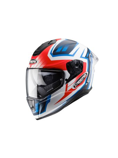 CABERG DRIFT EVO GAMA Integralna motoristična čelada - mat bela / rdeča / modra