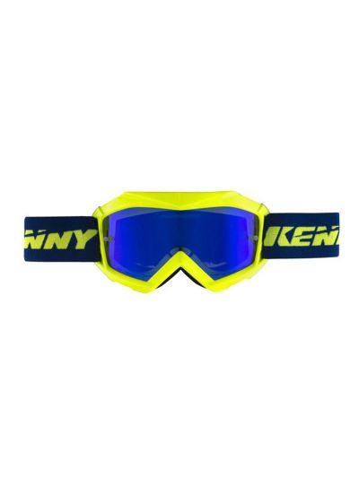 KENNY RACING TRACK+ otroška motoristična cross očala - modra/neon rumena