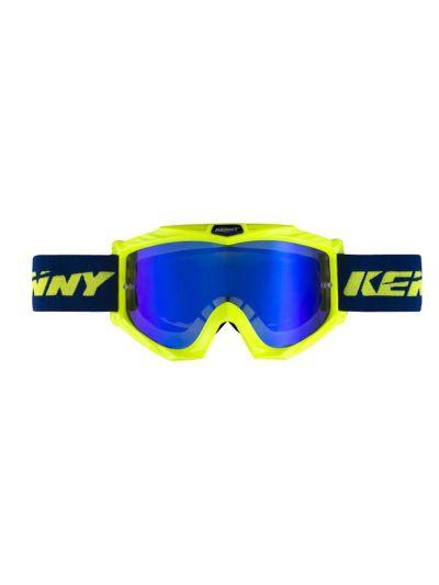 KENNY RACING TRACK+ motoristična cross očala - modra/neon rumena