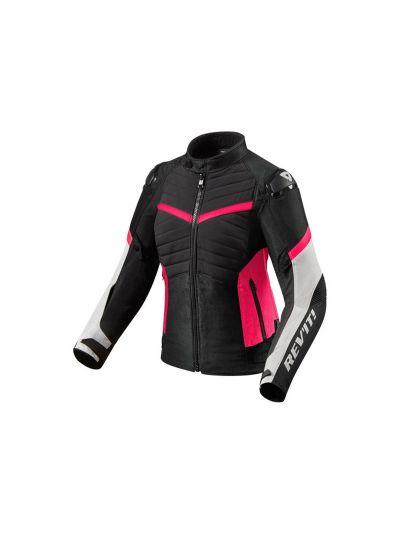 REV'IT ARC H20 LADIES Ženska textilna motoristična jakna - črna / fuksija