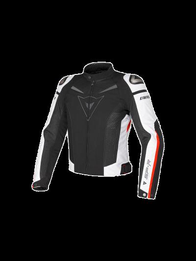 DAINESE SUPER SPEED tekstilna motoristična jakna - črna/bela/rdeča