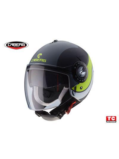 CABERG RIVIERA V3 SWAY - Motoristična odprta čelada - mat antracit / črna / rumena