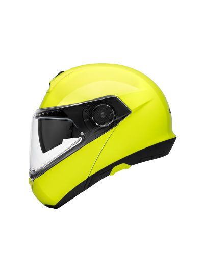 SCHUBERTH C4 PRO - Motoristična preklopna čelada - fluo rumena
