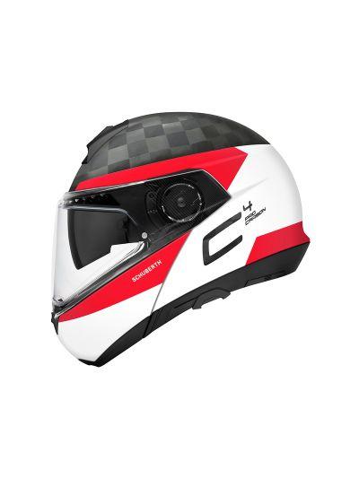 SCHUBERTH C4 PRO CARBON Preklopna motoristična čelada - Delta bela