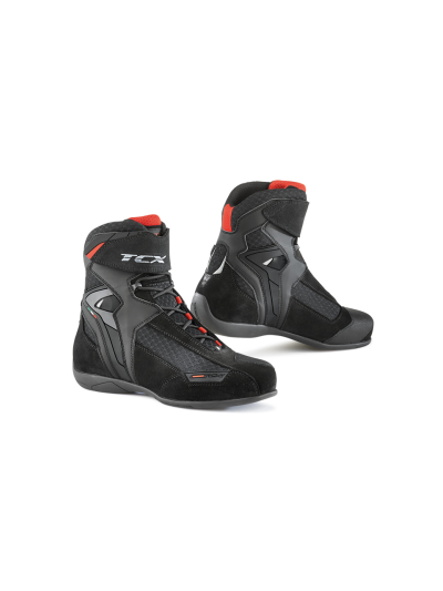 TCX VIBE AIR motoristični čevlji - črni / rdeči