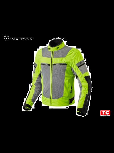 REV'IT TORNADO 2 NEON HiViz Tekstilna motoristična jakna - črna/fluo