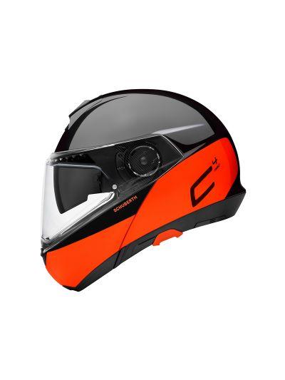 SCHUBERTH C4 PRO - Motoristična preklopna čelada - Swipe oranžna