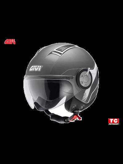 AIR JET 11.1 - GIVI Motoristična JET čelada - titan srebrna