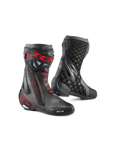TCX RT-Race Motoristični škornji - črni / rdeči