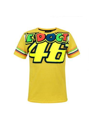 T-SHIRT majica VR 46 stripes rumena