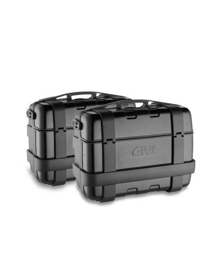 Komplet kovčkov GIVI TREKKER Black Line | 33 l - črni