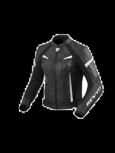 REV'IT Ženska usnjena motoristična jakna XENA 2 Lady črno/bela