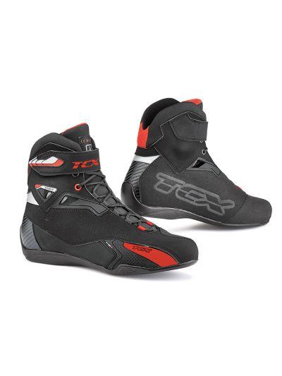 TCX RUSH motoristični nizki škornji - črni / rdeči