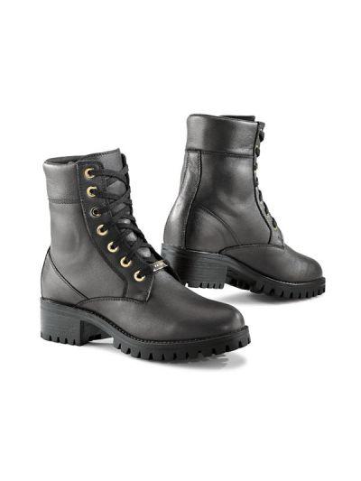 TCX LADY SMOKE WP ženski motoristični škornji - črni