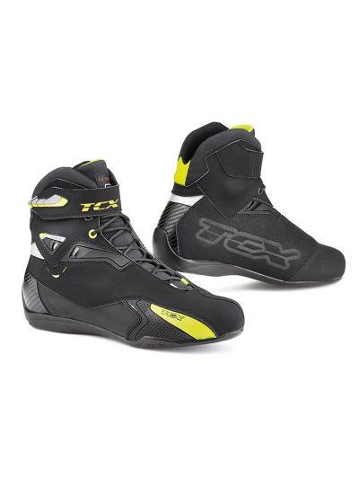 TCX X-Rush WP motoristični škornji - črni/rumeni