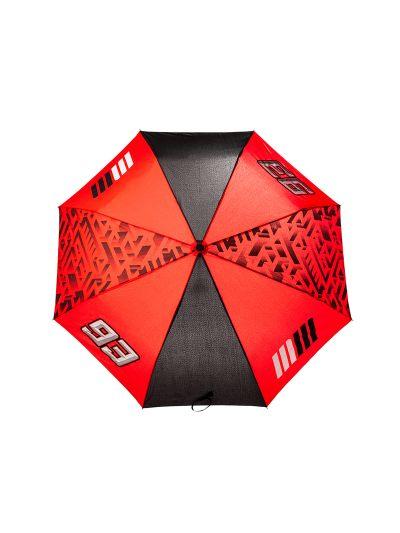 Zložljiv dežnik MM93 - črn / rdeč